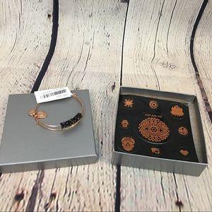 Alex and Ani Rose Gold Meteor Shower Bracelet